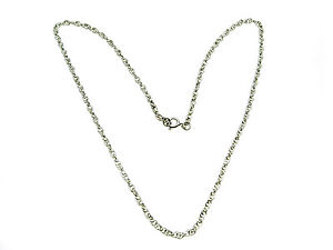 925-Sterling-Silver-rope-link-Necklet-Chain-16-034-GREAT-VALUE