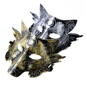 3fb32cee6718 Wolf s Head Plastic Mask Adult Men Kid Masquerade Werewolf Halloween ...