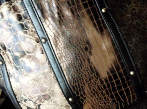 et en simili main à super cuir Sac élégant pour femme fourrure brun T7BwnO