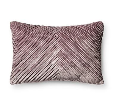 Violet Pleated Velvet Lumbar Pillow - Fieldcrest™