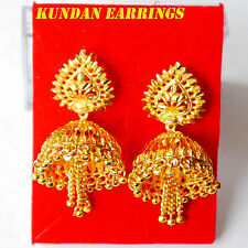 kundan chandelier drop earrings 22k Gold plated  Earrings Indian fashion earring