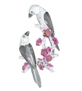 NIB-929-Swarovski-Crystal-Figurine-Tutelary-Spirit-Loving-Magpies-5004639