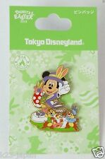Tokyo Disney Resort Pin Easter 2014 Mickey Chip & Dale Painting Egg JAPAN TDR