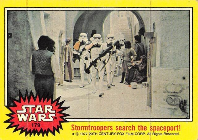 1977 Topps Star Wars Ser 3 Yellow #179 Stormtroopers Search The Spaceport! > J