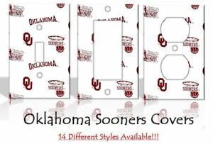 Oklahoma Sooners #2 Light Switch Covers Football NCAA Home Decor Outlet