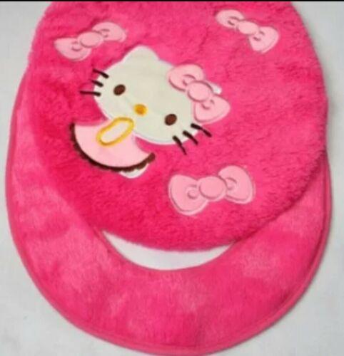 toilet lid cover cushion pink 2pcs//set Hello kitty toilet seat