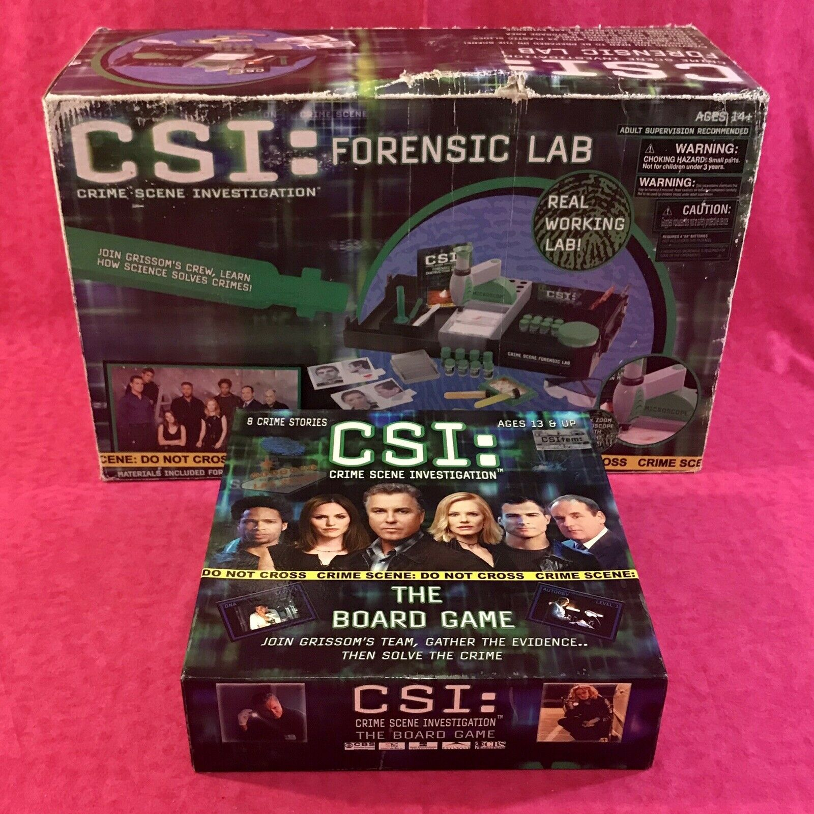 CSI Crime Scene Forensic Lab-Planet Toys & Board Game-Speciality Board Games Lot