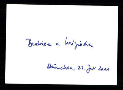 Autogramme & Autographen Freundschaftlich Beatrice Original Signiert # Bc 127097