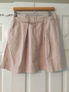 Anthropologie Sitwell Pleated Stripe A-line Retro 90s Schoolgirl Skirt Sz 4