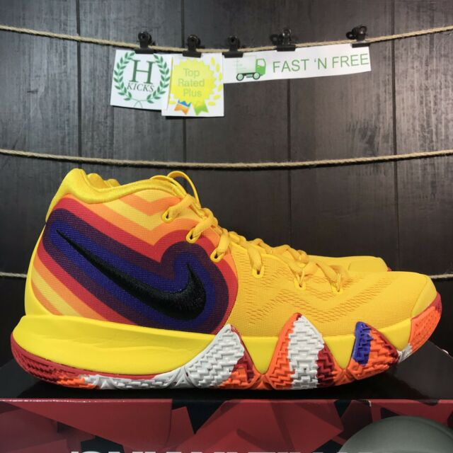 faf91d3b4d2 Nike Kyrie 4 70s Decade Pack Amarillo Black Yellow Red 943806 700 Size 13  NBT