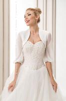 Wedding Bridal Coat Bolero Satin Jacket Shrug With Chiffon Sleeve S M L Xl