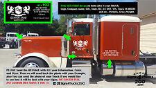 Set#102 DOT Signs Decals Company Name Door Lettering Semi Truck Van Pickup
