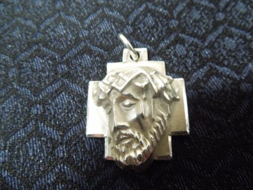 † Vtg Sterling Crown of Thorns Agony of Christ Med