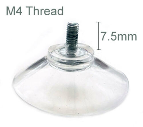 CHEAPEST!! 40mm Thumb Screw Clear Suction Cups White Nut Rubber Window Suckers