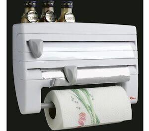 Portarrollos bl de cocina para papel aluminio film soporte for Portarrollos de cocina