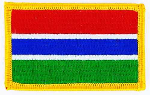 GAMBIA FLAG PATCH BADGE IRON ON NEW EMBROIDERED