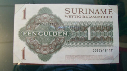 1984 1 Gulden P116h UNC Banknotes of All Nations Suriname Dec
