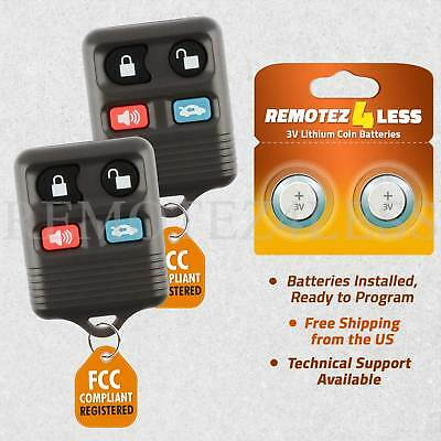 2 For 1995 1996 1997 1998 1999 2000 2001 Lincoln Continental Car Remote Key Fob