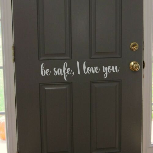 te amo Puerta Decal Sticker Pared Pasillo Vinilo PalabrasWQB63 Ser seguro