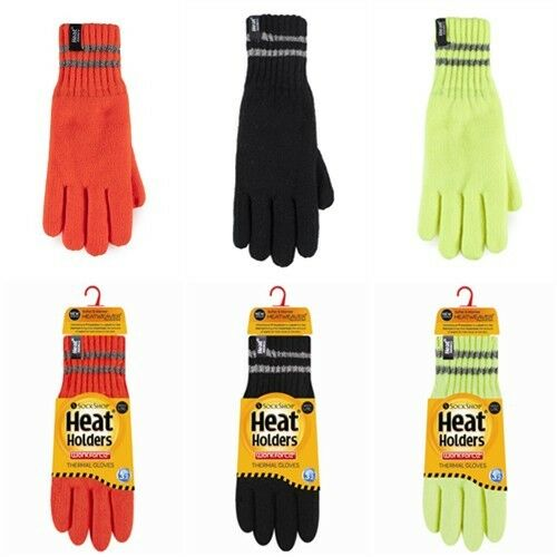 1 pair Men's High Visibility Workforce Heat Weaver Winter Warm Thermal Gloves