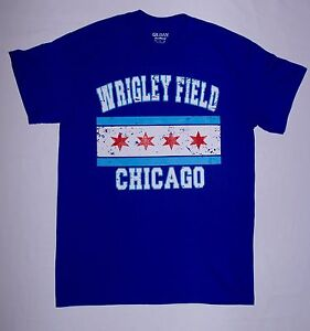 Chicago Cubs World Series Wrigley Field Tshirt Chicago Flag Free
