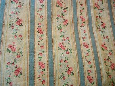 Rare RALPH LAUREN  Rosalie Floral Stripe Twin Fitted Sheet Mesa Aqua Rio Grande