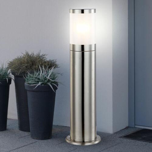 LED Sockel Steh Lampe Edelstahl Wand Strahler Außen Garten Hof Fassaden Leuchte