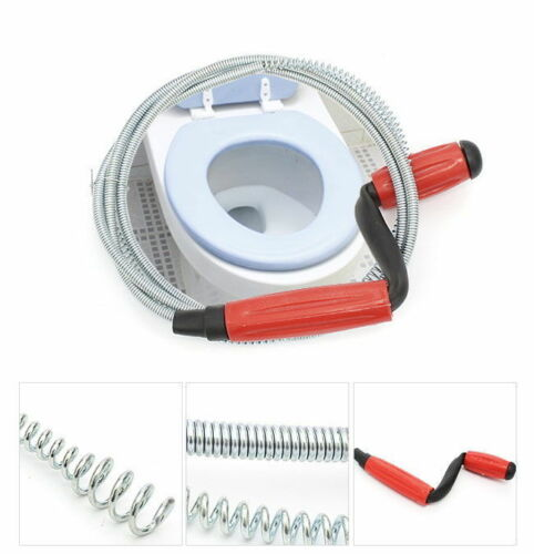 """Drain Tool Snake Closet Steel Auger Toilet  Sink Pipe Plunger 59/"""" Wire Cleaner"""