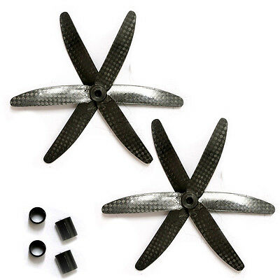 2 Pair 5030 Carbon Fiber Props Tri-Blade CCW CW Propeller for 130-155 Drones