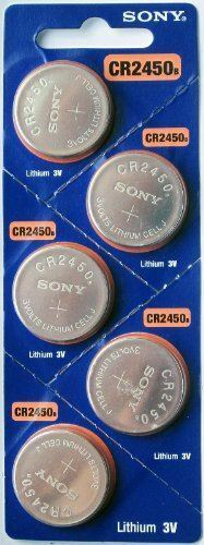 5PC SONY CR2450 2450 Lithium Battery 3V 600 mAh