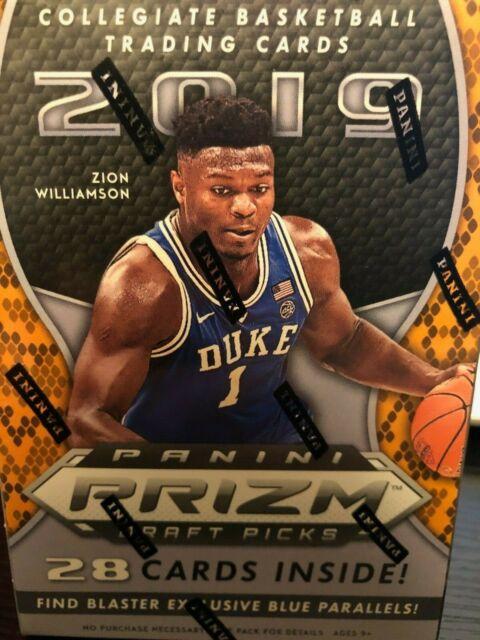 2019 Panini Prizm Draft Picks Basketball Card Blaster Box Zion Williamson rookie