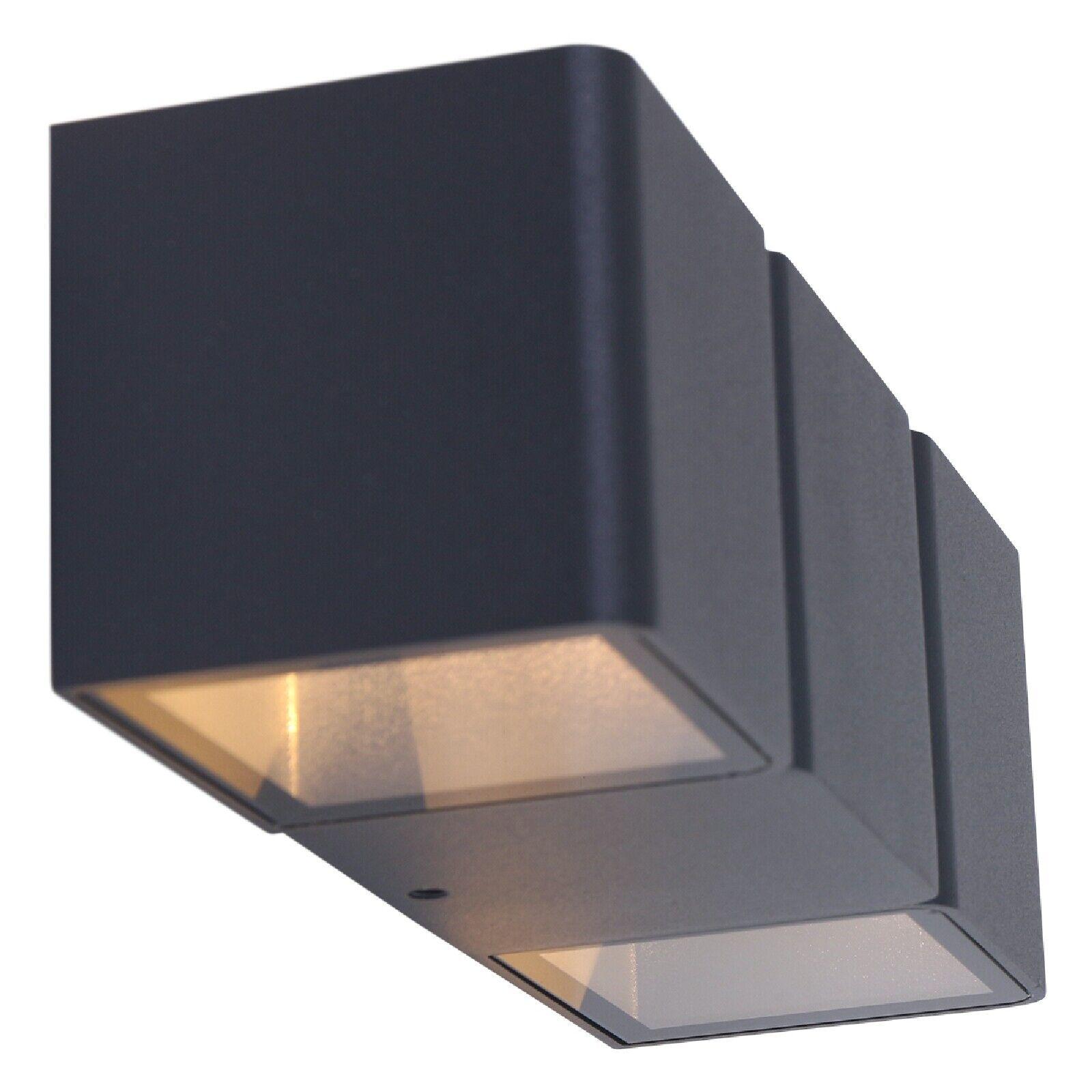 LED Außenleuchte Wandlampe Up & Down Effekt 2x 3W Schwarz IP54 Steinhauer 1501ZW
