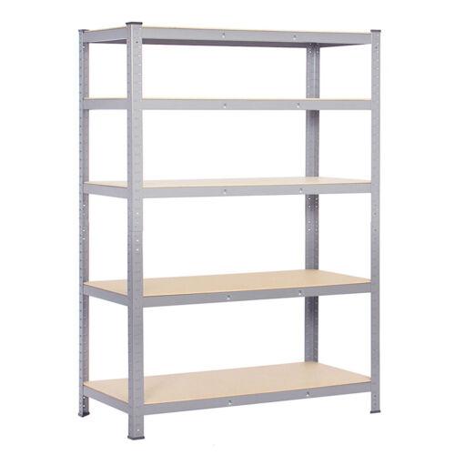 180x90//120cm Wide Bay 5Tier Shelving Garage Steel Racking Workstatio Bench Shelf