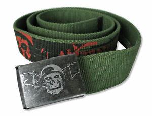 Avenged-Sevenfold-Green-Canvas-Belt-New-Official-OSFM