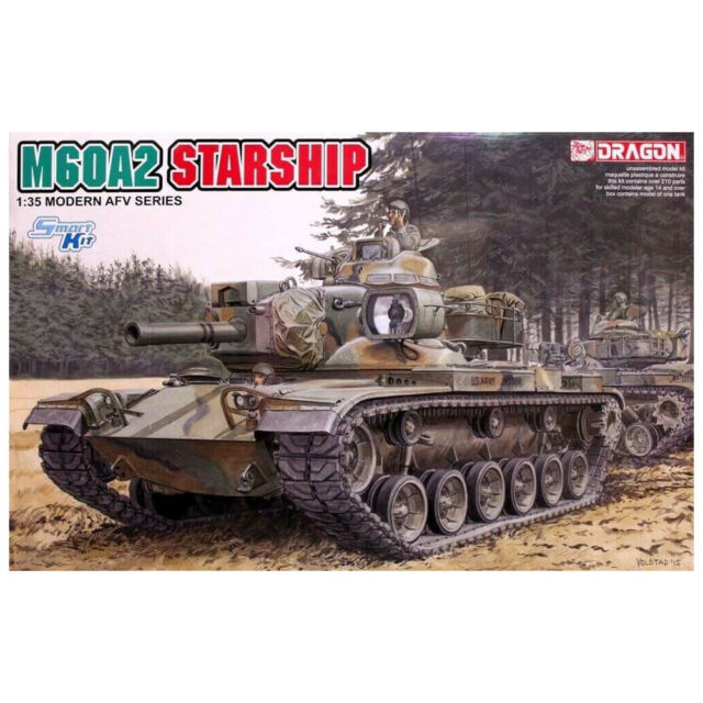 DRAGON 1:35 M60A2 STARSHIP MILITARY PLASTIC MODEL SMART KIT TOY GIFT COLLECTIONS
