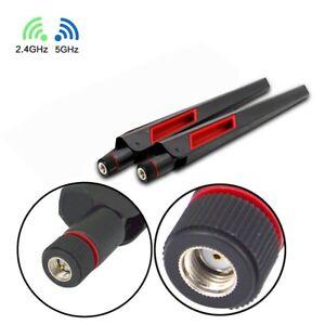 2 piezas nuevo doble banda 2.4 5Ghz 12dBi RP-SMA Antena de alta ganancia Router Wi-Fi inalámbrica