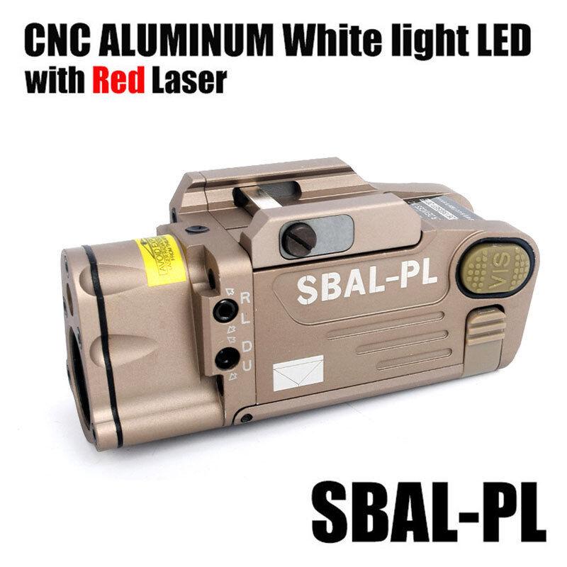HM SBAL-PL pistola doble haz de luz láser rojo con luz de arma de múltiples funciones