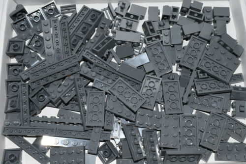 LEGO pieces job lot DARK STONE GREY bricks and plates taken from NEW sets