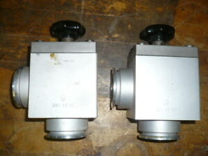 Leybold-28153B1-NW40-angle-manual-high-vacuum-valve-KF40-QF40