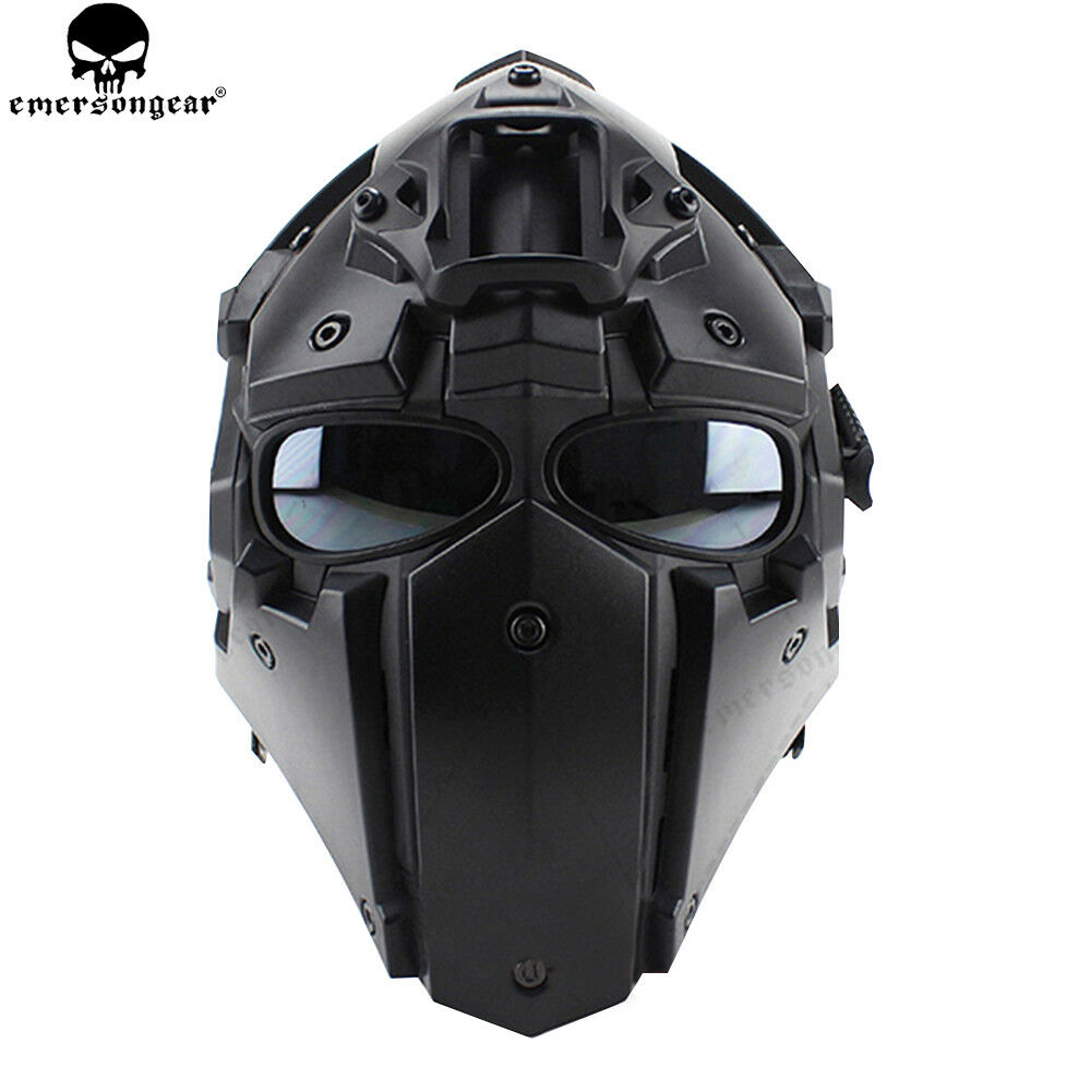 Tactical Helmet CF Game Full Face Goggle Mask Airsoft Paintball Predective 5 Len