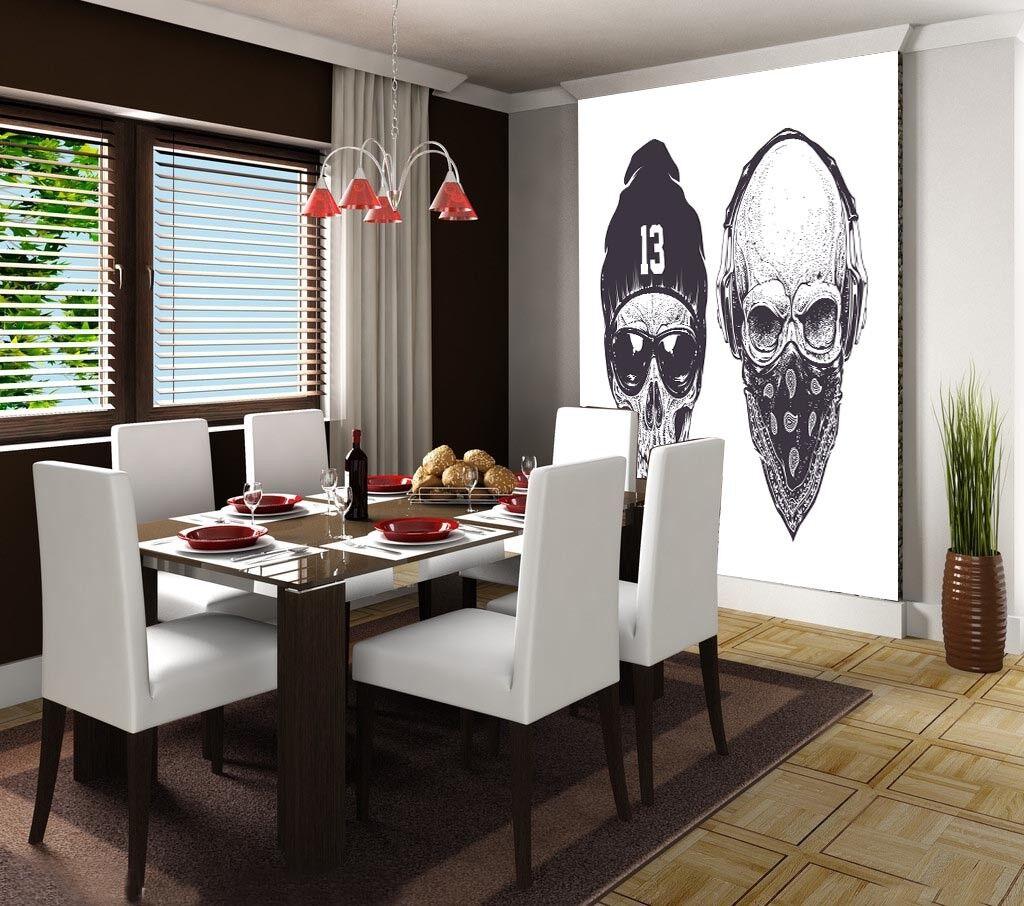 3D Skull Head 878 Wallpaper Mural Paper Wall Print Wallpaper Murals UK Lemon