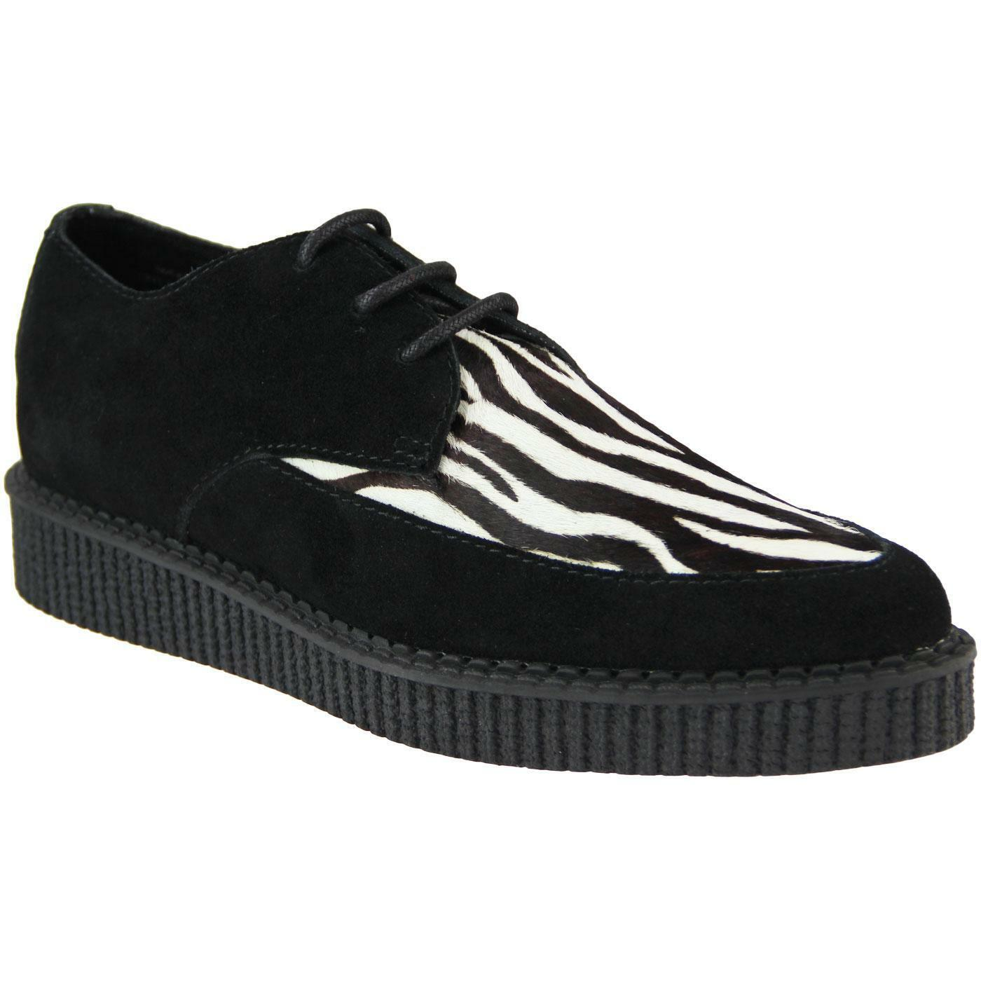 NEW NEW NEW MADCAP WOMENS MOD ROCKABILLY 50s 70s BLACK ZEBRA CREEPERS SHOES ROCKET 32402 0d7ed5