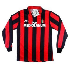 1988-89-AC-Milan-Maglia-Home-CARTELLINO-XS-S-M-L-SHIRT-MAILLOT-TRIKOT