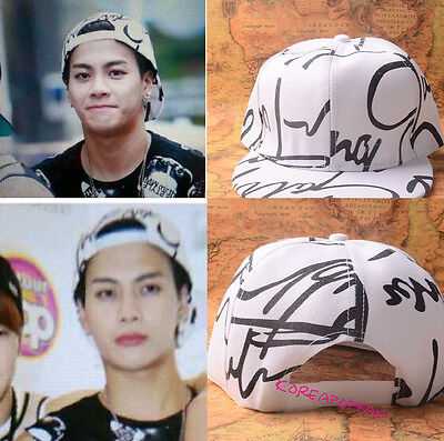 Got7 WHITE hat cap snapback caps Kpop New jackson mark