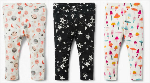 NWT Gymboree Rising Stars Creative Types Girls Planet Stars Mushroom Leggings