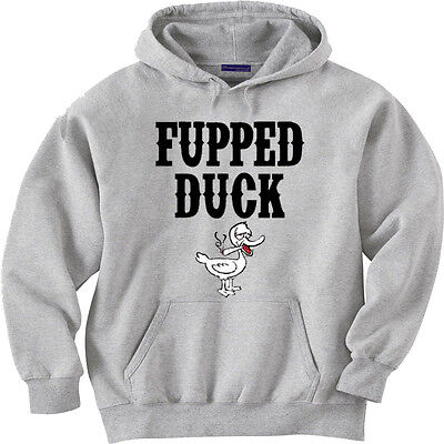 Men/'s funny sweatshirt Fupped Duck pot head beer drunk party funny saying hoodie
