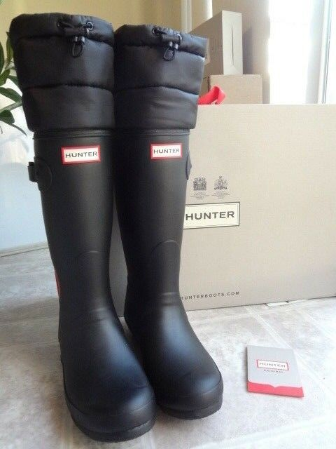 Hunter Original Quilted Cuff Insulated Tall Stivali, 8 (NEW) Free Shipping