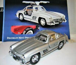 Franklin-Mint-1-24-Scale-1954-Silver-Mercedes-Benz-300-SL-diecast-car-precision
