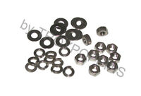 Ss 10-1/4-20 Hex Nuts & 10-flat-10-lock 1/4 Washers Stainless Steel 18-8 Parts