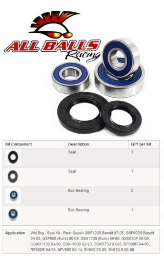 Kit Roulement//Spi de Roue Arrière All Balls 25-1269 Suzuki BANDIT 600//650//1200,